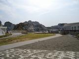 白い岩山!