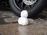 雪だるま1号!