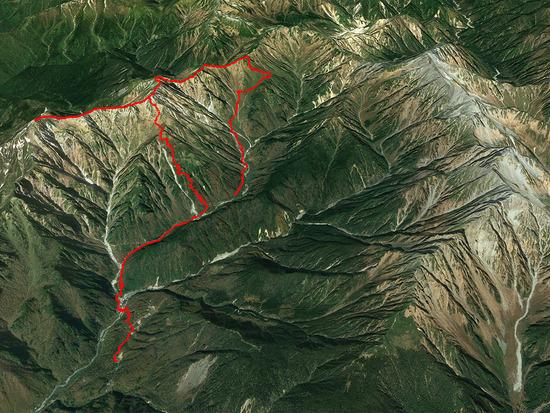 笠ケ岳GPS