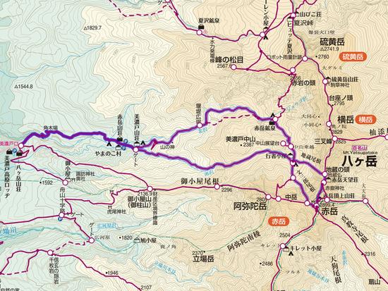 文三郎〜赤岳〜地蔵