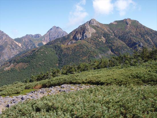 編笠山から南八ヶ岳展望