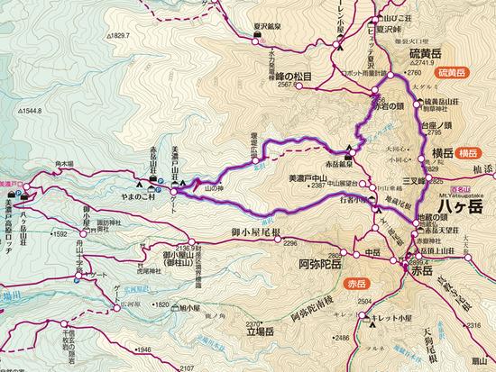 地蔵〜横岳〜硫黄岳