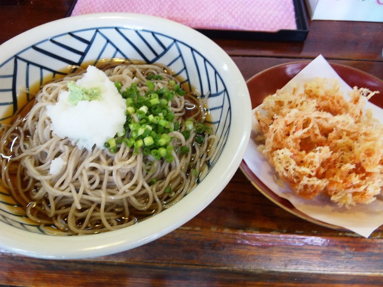 鐘庵・桜えびおろしかき揚げ蕎麦
