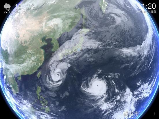 台風27,28号の行方