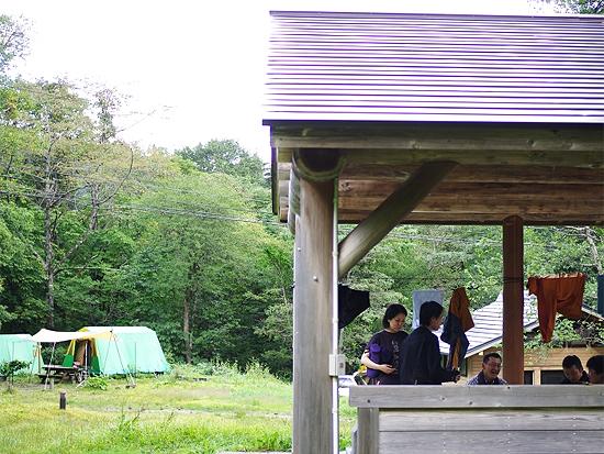 平湯キャンプ場常設テント