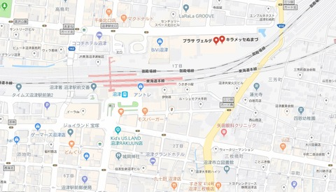 キラメッセぬまづ地図