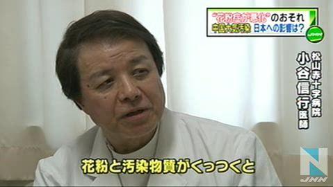 """中国大気汚染、日本で""""花粉症悪化""""も11"""