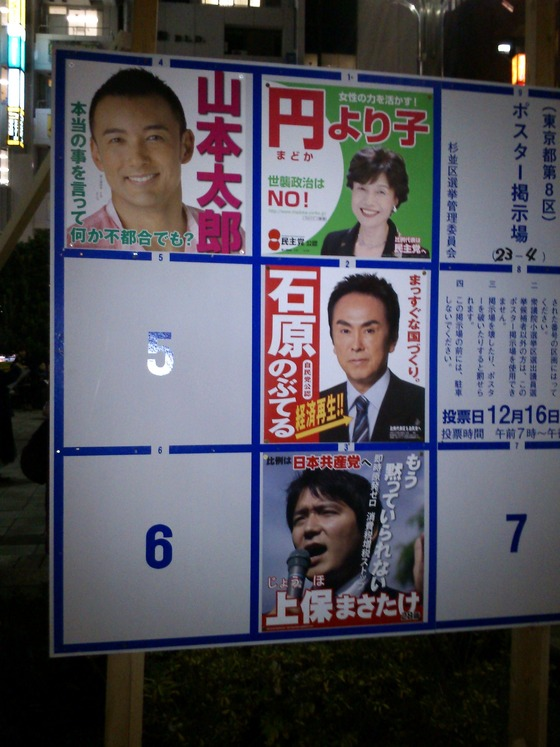 杉並8区 選挙ポスター