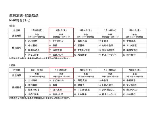 政見放送20132