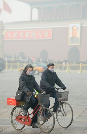 北京市内で有害物質を含んだ濃霧が発生