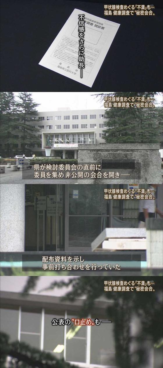 福島 健康調査で秘密会合 甲状腺監査めぐる不満も・・・3