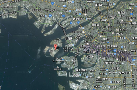 此花区 夢洲   Google マップ