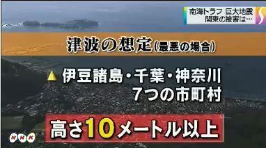 南海トラフ 関東被害想定公表2