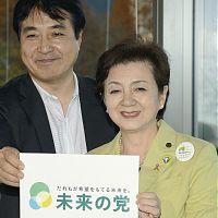 新党「日本未来の党」結成を表明する代表の嘉田由紀子滋賀県知事