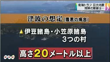 南海トラフ 関東被害想定公表