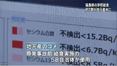 福島 給食で地元米の使用再開2