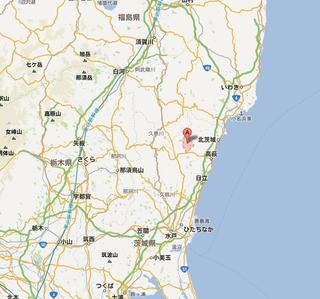 高萩市上君田   Google マップ