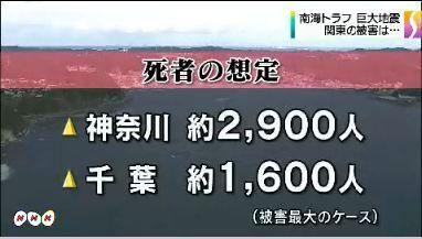 南海トラフ 関東被害想定公表4