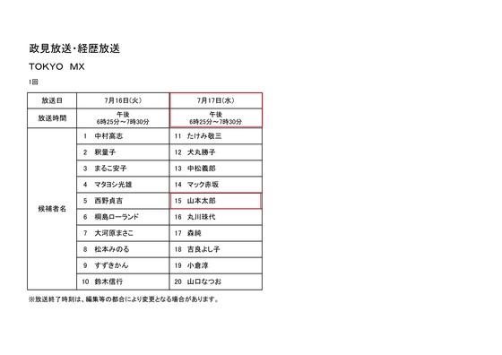政見放送20134