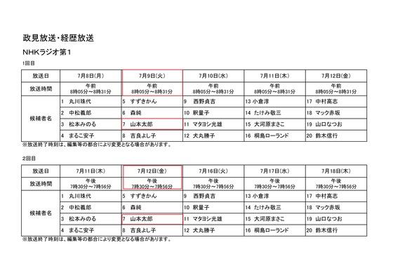 政見放送20133
