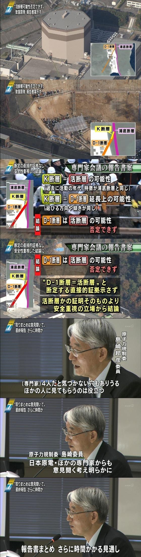 敦賀原発2号機の真下に「活断層の可能性が高い」とする報告書案2