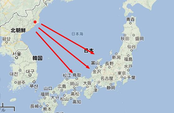 北朝鮮 地図 核実験