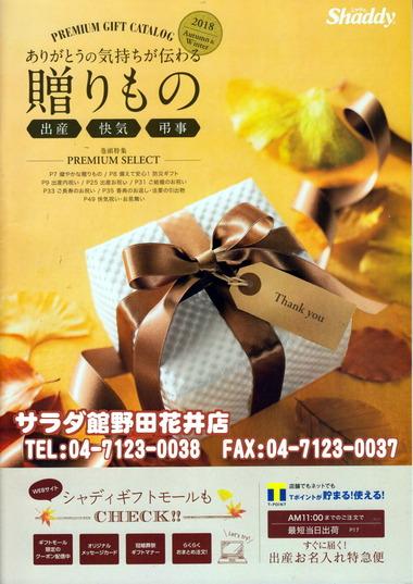 サラダ館の秋の贈り物カタログ