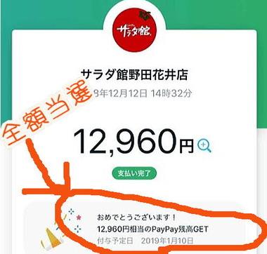 PayPay全額戻ってくるキャンペーン