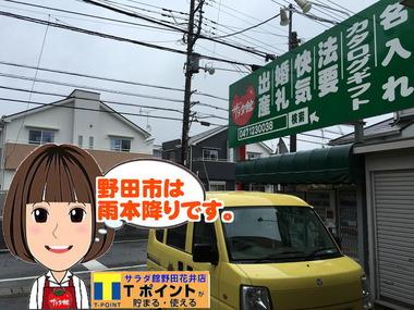 野田市の雨