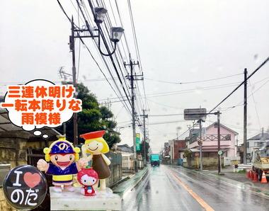 一転雨の野田市