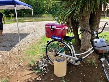 自転車でも生ビール?!