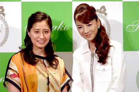 竹内智香(左)と君島十和子氏(写真:サンケイスポーツ)