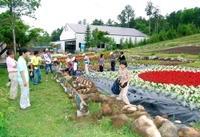 夏季営業が始まった御岳ロープウェイ。色とりどりの花を植えた花壇が客を出迎えた