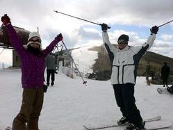 びわ湖バレイでスキー場開きがあり、初日から訪れたスキーヤーやスノーボーダーらが初滑りを楽しんだ。