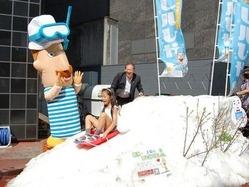表参道・新潟館ネスパスに4トンの雪−「レルヒさん」も登場 /東京