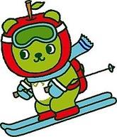 新たにスキーを楽しむ姿をデザインした県観光PRキャラクター「アルクマ」