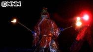 蔵王の白銀が赤く染まる…「雪と炎の饗宴」