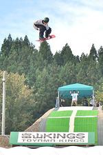 芦峅寺スキー場のゲレンデ跡に開設されたエアーの練習場「富山キングス」