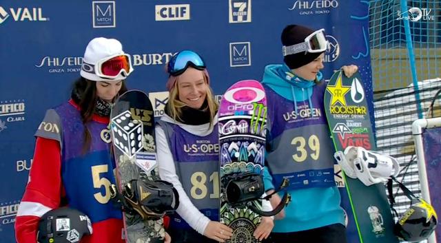 women podium