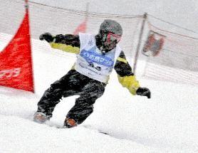 コースを滑走する選手=北広島町西八幡原