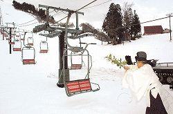 今シーズンの営業を開始したたいらスキー場=南砺市梨谷