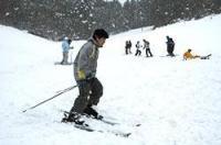 初滑りを楽しむ生徒たち(福知山市雲原・北陵中)