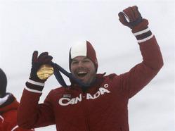 2月27日、バンクーバー五輪のスノーボードの男子パラレル大回転でアンダーソンが金メダル(2010年 ロイター/Mark Blinch)