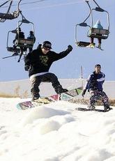 北海道内で一番にオープンしたスキー場「スノークルーズオーンズ」(北海道小樽市で)=栗原怜里撮影