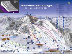 北京で人気の南山スキー場の案内マップ(南山スキー場オフィシャルサイトより)