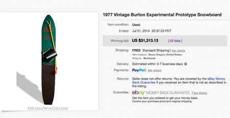 バートンのヴィンテージボードが高額落札されたキャプチャ