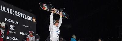 トラビス・ライス、ビッグエアーコンテスト「Air&Style」で優勝