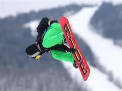 2月3日、ソチ冬季五輪に出場する男子スノーボード選手、シーマス・オコナーは、同大会のコースは危険であり、けがを避けるために変更が必要との考えを示した。カナダのケベック州で先月撮影(2014年 ロイター/Jean-Yves Ahern-USA TODAY Sports)