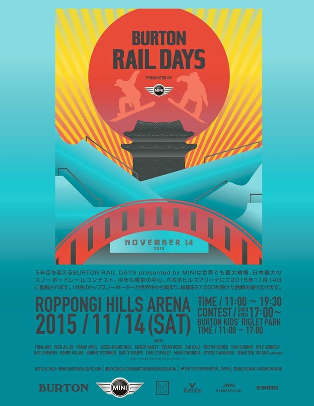 BURTON RAIL DAYS 2015