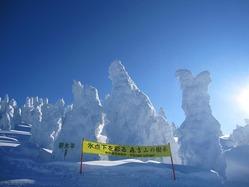 森吉山の樹氷開催 樹氷開催期間 平成24年1月7日(土)から3月11日(日)